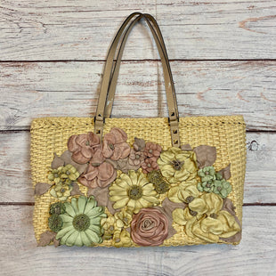 Handbag Designer By Valentino  Size: Medium - BRAND: VALENTINO STYLE: HANDBAG DESIGNER COLOR: FLORAL SIZE: MEDIUM OTHER INFO: MSRP 2960 RAFFIA W LEATHER FLOWERS SKU: 217-217144-9293