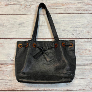 Handbag Designer By Chanel  Size: Medium - BRAND: CHANEL STYLE: HANDBAG DESIGNER COLOR: BLACK SIZE: MEDIUM OTHER INFO: DRAWSTRING GROSGRAIN LEATHER SKU: 217-217144-8881