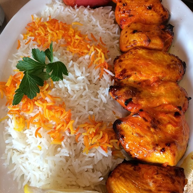 Chicken Kabob with rice cooked by Philly Steak and Gyro in Arizona