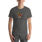 Sentinel MD Tee Shirt. Dog Lovers Cloths, Dog Rescue T shirt, Pit Bull Clothing, Sentinel Clothing Brand, Tee Shirt