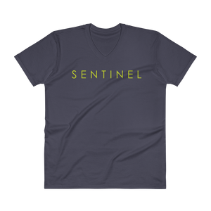 Sentinel V-Neck T-Shirt, Dog Lovers Cloths, Dog Rescue T shirt, Pit Bull Clothing, Sentinel Clothing Brand,