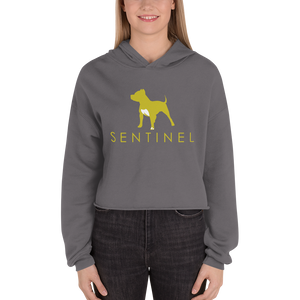 Sentinel Ladies Crop Hoodie, Dog Lovers Cloths, Dog Rescue T shirt, Pit Bull Clothing, Sentinel Clothing Brand,