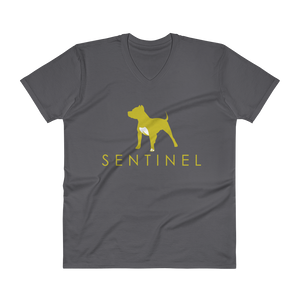 Sentinel Rex V-Neck T-Shirt Dog Lovers Cloths, Dog Rescue T shirt, Pit Bull Clothing, Sentinel Clothing Brand,