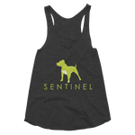 Sentinel Women's Racerback Tank, Dog Lovers Cloths, Dog Rescue T shirt, Pit Bull Clothing, Sentinel Clothing Brand,