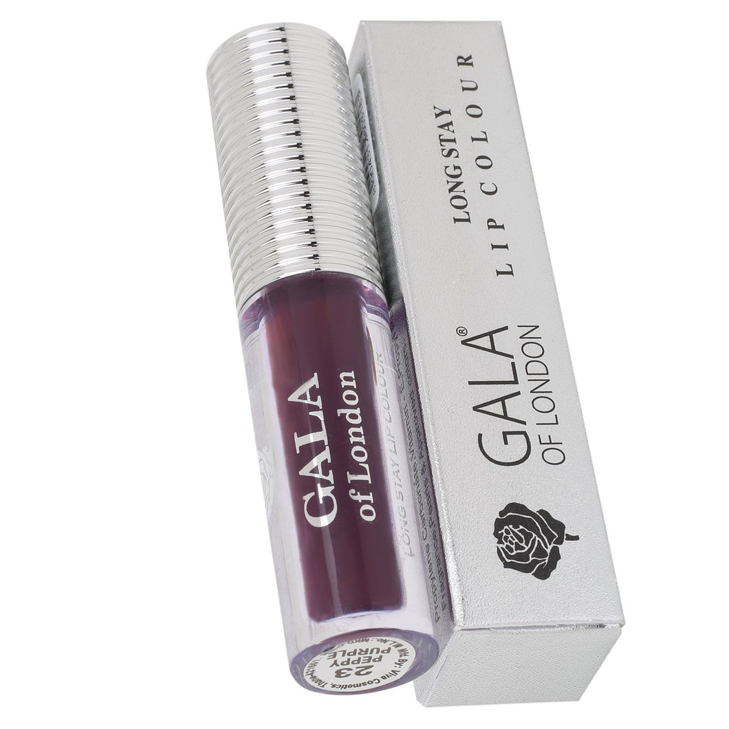 Gala of London SMUDGE PROOF Long Stay Lip Colour - 23 Peppy Purple