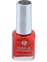 Load image into Gallery viewer, Gala of London Bridal Nail Polish - Orange  Glossy BR02