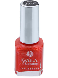 Gala of London Bridal Nail Polish - Orange  Glossy BR02