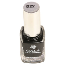 Load image into Gallery viewer, Gala of London Gel Nail Polish - Black Glossy G22