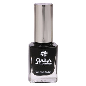 Gala of London Gel Nail Polish - Black Glossy G22