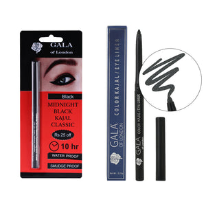 Gala of London Midnight Black Kajal Classic & Color Kajal/Eyeliner(Green)