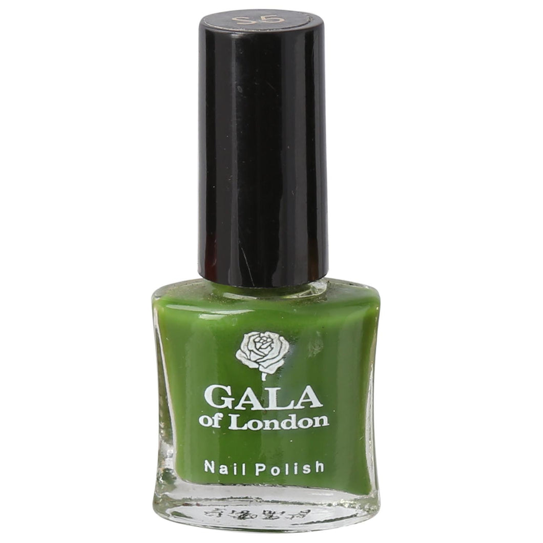 Gala of London S Series Nail Polish - Bottle Green Glossy S5