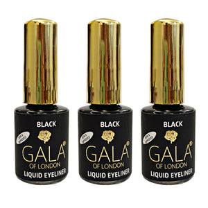 Gala of London Liquidline Black - Pack of 3