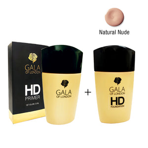 Gala of London HD Primer & HD Foundation(Natural Nude)
