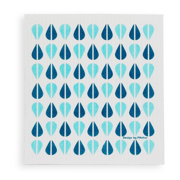 Florence Retro Dish Cloth - Blue