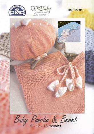 DMC Baby Poncho and Beret knitting pattern