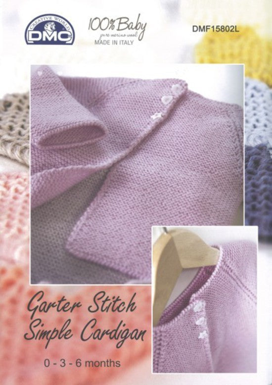 DMC Garter Stitch Simple Cardigan