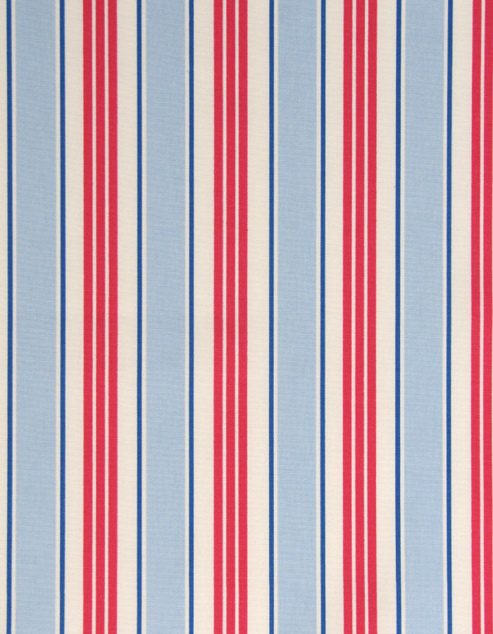 Cotton Fabric Deckchair Stripe Powder Blue