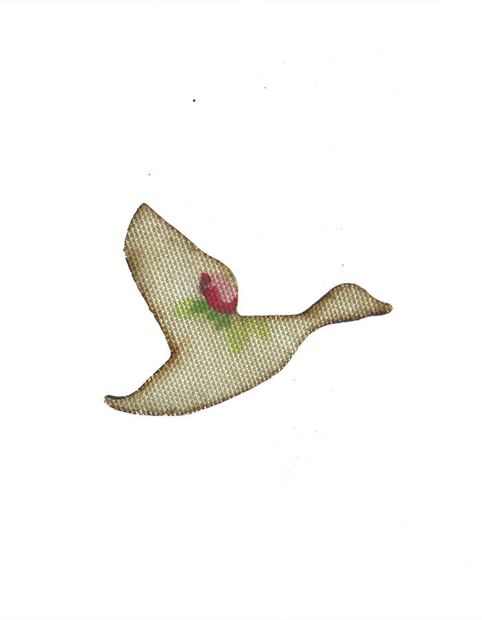 MYstyle Brooch Flying Duck Rosebud Chintz