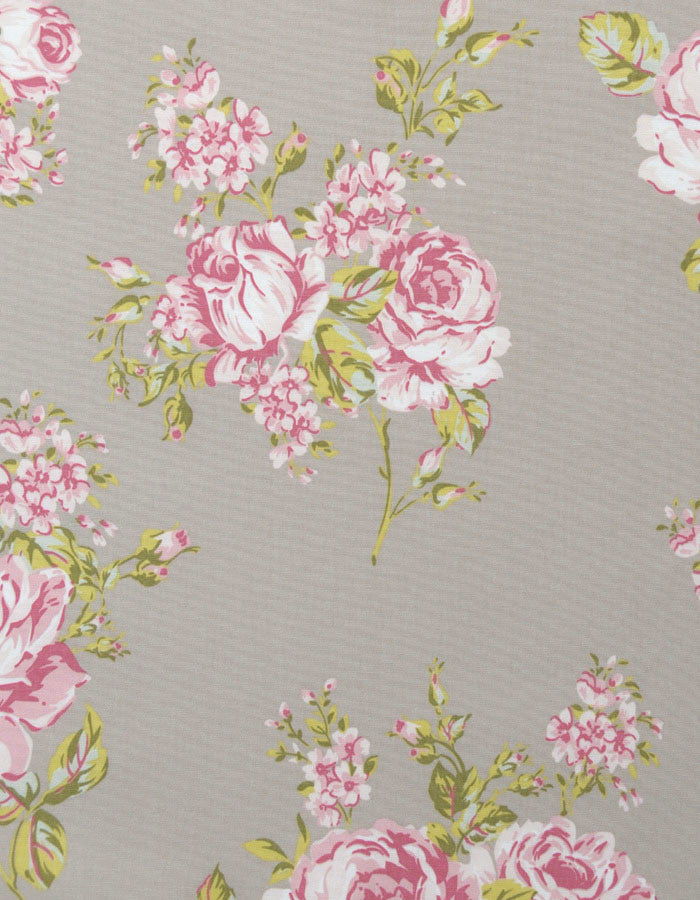 Cotton Fabric Flora Taupe