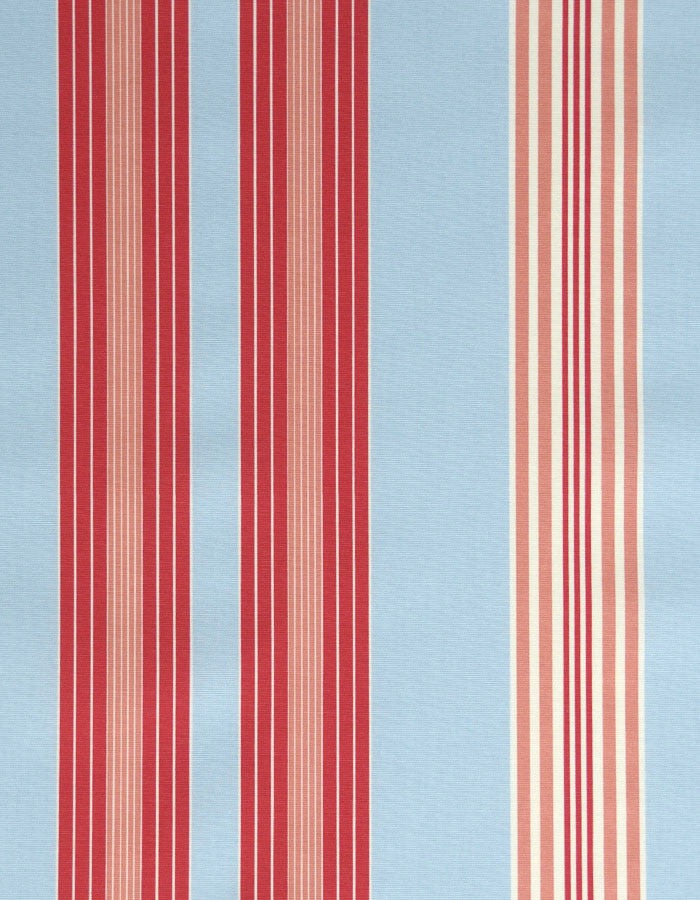 Cotton Fabric Lulu Stripe Powder Blue