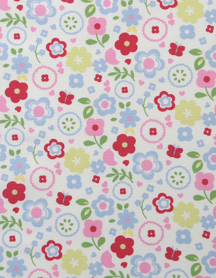 Cotton Fabric Retro Floral Chintz