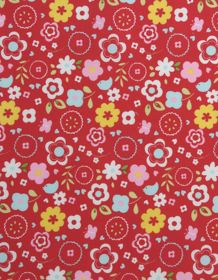 Cotton Fabric Retro Floral Multi