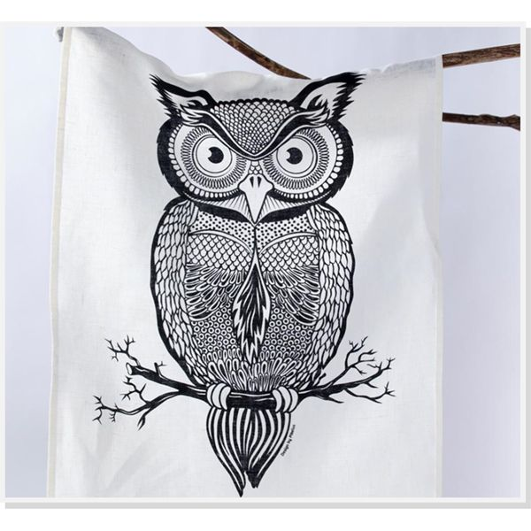 Florence Owl Tea Towel