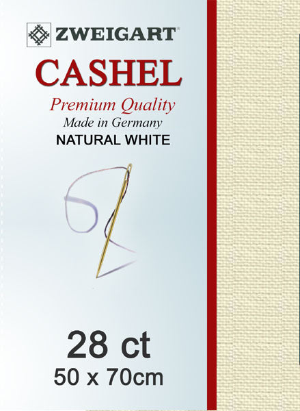 Zweigart Linen, Cashel 28ct - Natural White