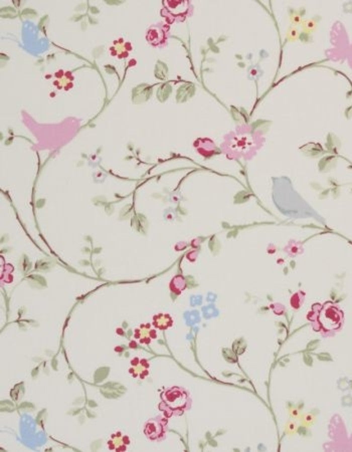 Oilcloth Bird Trail Grey