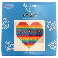 Anchor 1st Kit; Cross Stitch - Heart