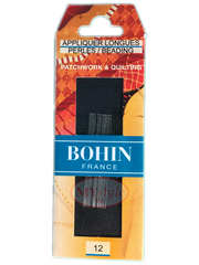 Bohin Appliquer Long Needles, Size 12