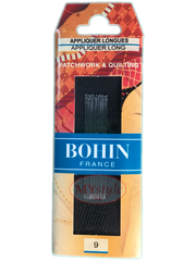 Bohin Appliquer Long Needles, Size 9