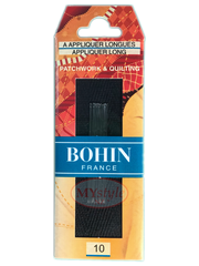 Bohin Appliquer Long Needles, Size 10