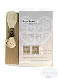 Kiwi Stitch Company, Koru Heart Cross Stitch Kit - Cream on Taupe