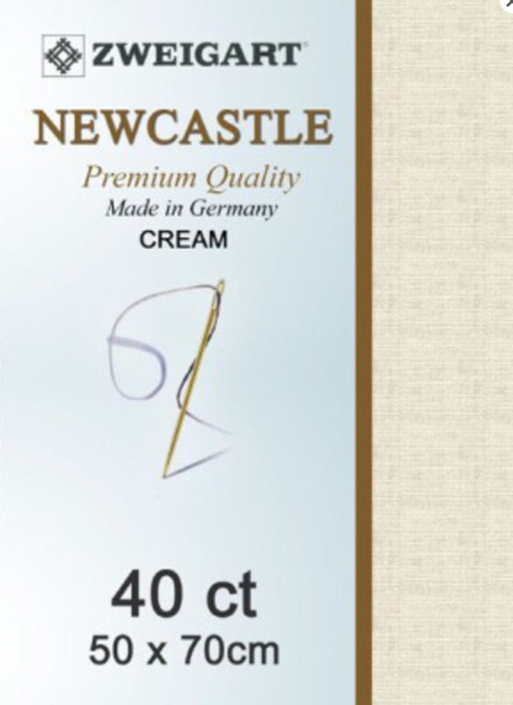 Zweigart Linen, Newcastle 40ct - Cream
