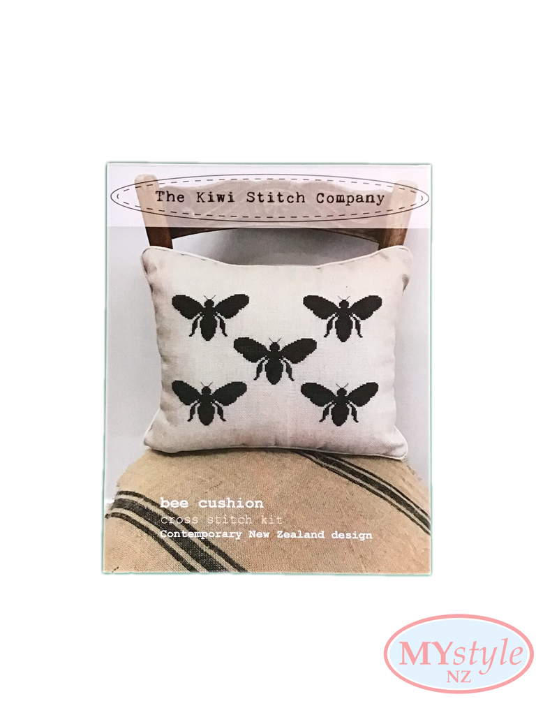 Kiwi Stitch Company, Bee Cross Stitch Cushion Kit