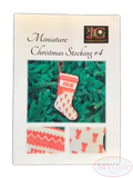 JC Embroidery, Miniature Christmas Stocking #4