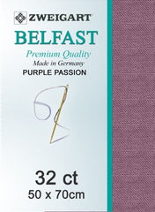 Zweigart Linen, Belfast 32ct - Purple Passion