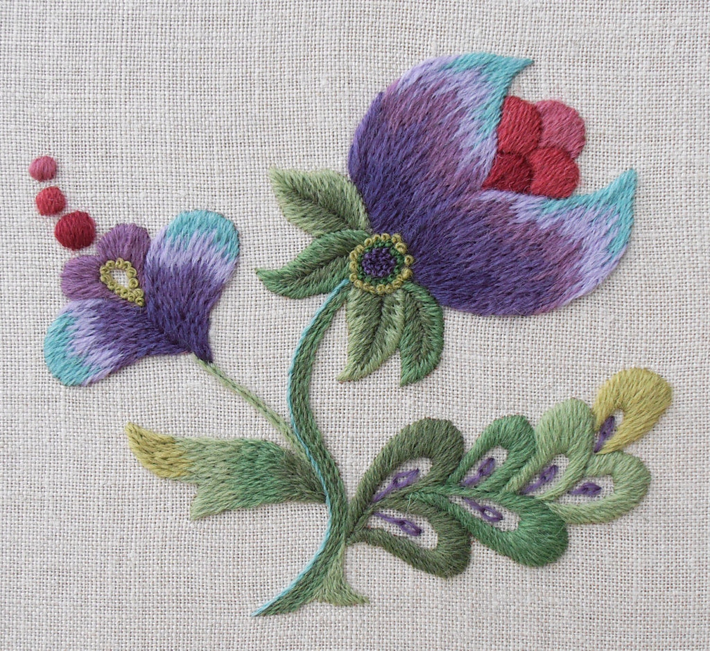 Anna Scott, Fine Stitch Studio. Purple Grace