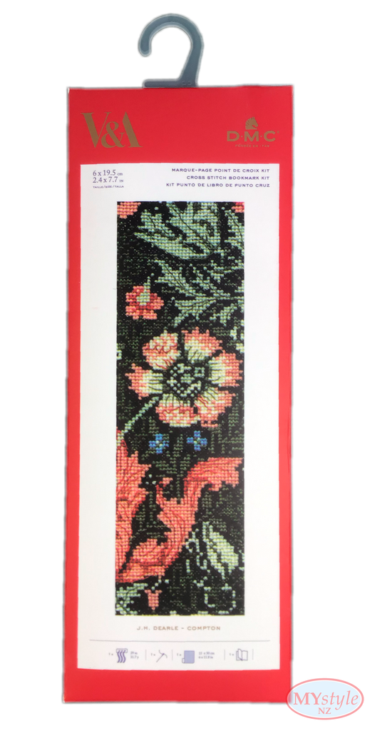 DMC, V&A Compton - Cross Stitch Bookmark