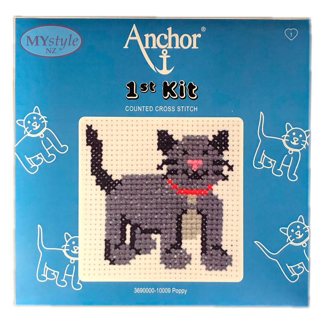 Anchor 1st Kit; Cross Stitch - Poppy