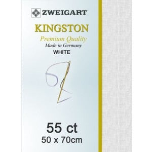 Zweigart Linen, Kingston 55ct - White