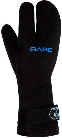 Bare 7mm Unisex K-Palm Three-Finger Scuba Dive Mitt