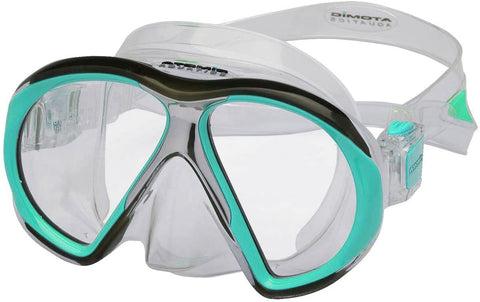 Atomic Aquatics Subframe Mask Clear/Aqua (Medium Fit)