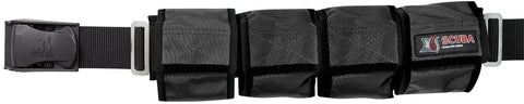 XS Scuba Pocket Weight Belts (4 Pocket, Blue)