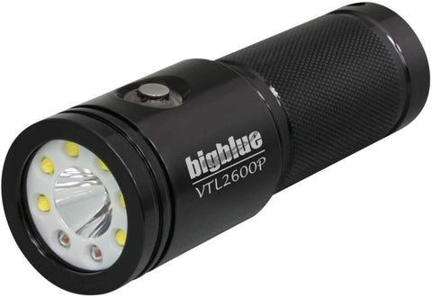 BigBlue VTL2600P - 2600 Lumen Dual-Beam Video/Tech Dive Light