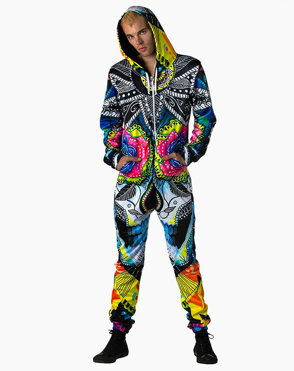 Galaxy One Piece Onesie Rave Festival Outfit
