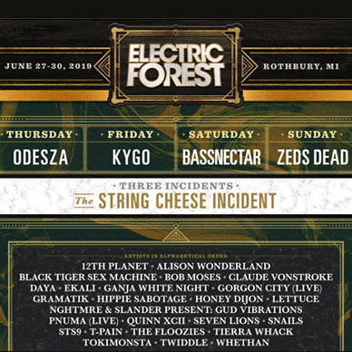 Electric Forest Drops MASSIVE Lineup for 2019