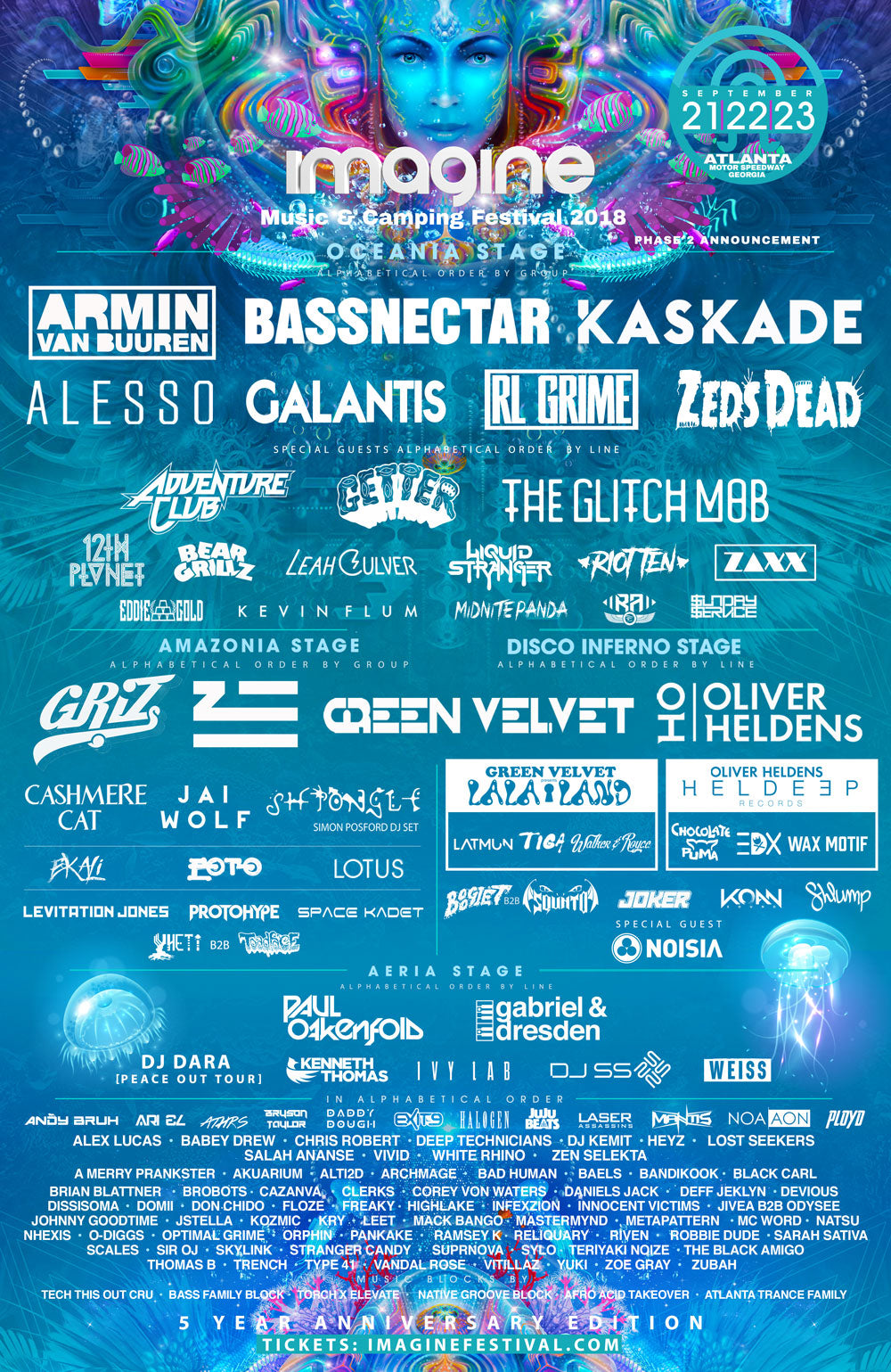 Imagine Music Festival Releases Stacked 2018 Lineup