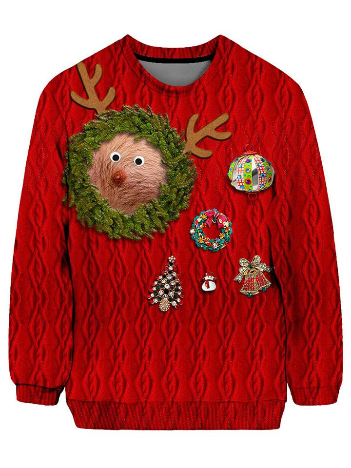this reindeer nipple sweater is hilarious show some skin but not really with this goofy holiday rendition rudolph the red nose nipple is here to conquer